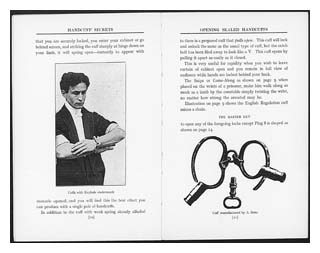 Page from Harry Houdini's Handcuff Secrets. Image © Senate House Library, University of London