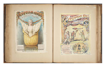 Page from Houdini's 10th Scrapbook. Image © The Harry Ransom Center, University of Texas, Austin