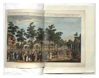 Page from Sarah Banks' scrapbook, with an illustration of Ranelagh Gardens. Image © The British Library