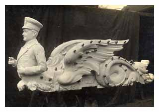 Piece of a fairground ride, from the Orton and Spooner collection. Image © The National Fairground Archive, University of Sheffield