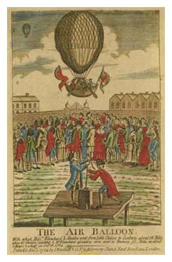 The Air Balloon, from Sarah Banks' scrapbook. Image © The British Library