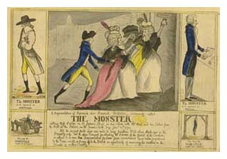 The Monster, from Sarah Banks' scrapbook. Image © The British Library