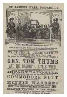 Gen Tom Thumb and his beautiful little wife. Image © The National Fairground Archive, University of Sheffield