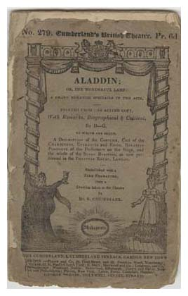 Programme for Aladdin, 1826. Image © The Harry Ransom Center, University of Texas, Austin